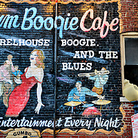 Rum Boogie Cafe Mural on Beale Street in Memphis, Tennessee<br />