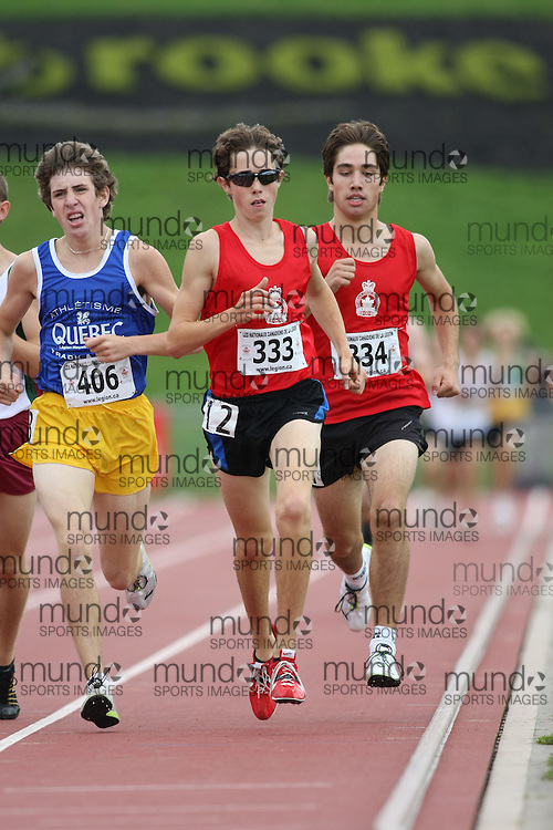 (Sherbrooke, Quebec---10 August 2008) Connor Darlington competing in the 1500m at the 2008 Canadian National Youth and Royal Canadian Legion Track and Field Championships in Sherbrooke, Quebec. The photograph is copyright Sean Burges/Mundo Sport Images, 2008. More information can be found at www.msievents.com.