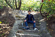 CHONGQING, CHINA - APRIL 27: (CHINA OUT) <br /> <br /> One foot bigger than the other<br /> <br /> Twenty-one-year-old boy Liu Huichang has to wear a big shoe due to his macrodactyly in China. Twenty-one-year-old boy Liu Huichang from Qu County of Sichuan province suffered macrodactyly that his right foot was in 43 centimeters long and 14 centimeters thick. The weird and ugly right foot troubled his life and work and so he had to operate on it. <br /> ©Exclusivepix Media