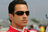 Helio Castroneves at the Milwaukee Mile, ABC Supply Co./AJ Foyt 225, July 25, 2005