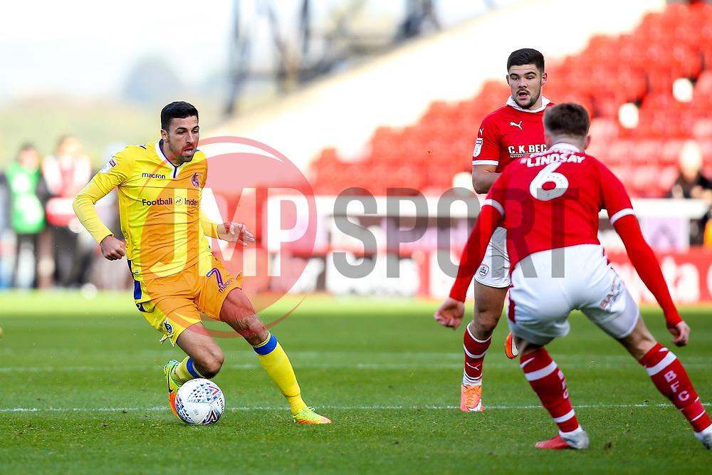 Liam Sercombe of Bristol Rovers takes on Liam Lindsay of Barnsley - Mandatory by-line: Robbie Stephenson/JMP - 27/10/2018 - FOOTBALL - Oakwell Stadium - Barnsley, England - Barnsley v Bristol Rovers - Sky Bet League One