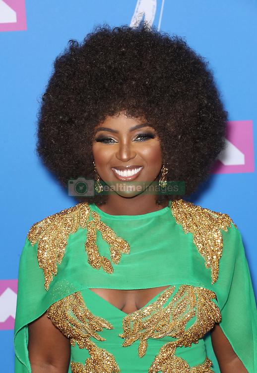 August 21, 2018 - New York City, New York, USA - 8/20/18.Amara La Negra at the 2018 MTV Video Music Awards held at Radio City Music Hall in New York City..(NYC) (Credit Image: © Starmax/Newscom via ZUMA Press)