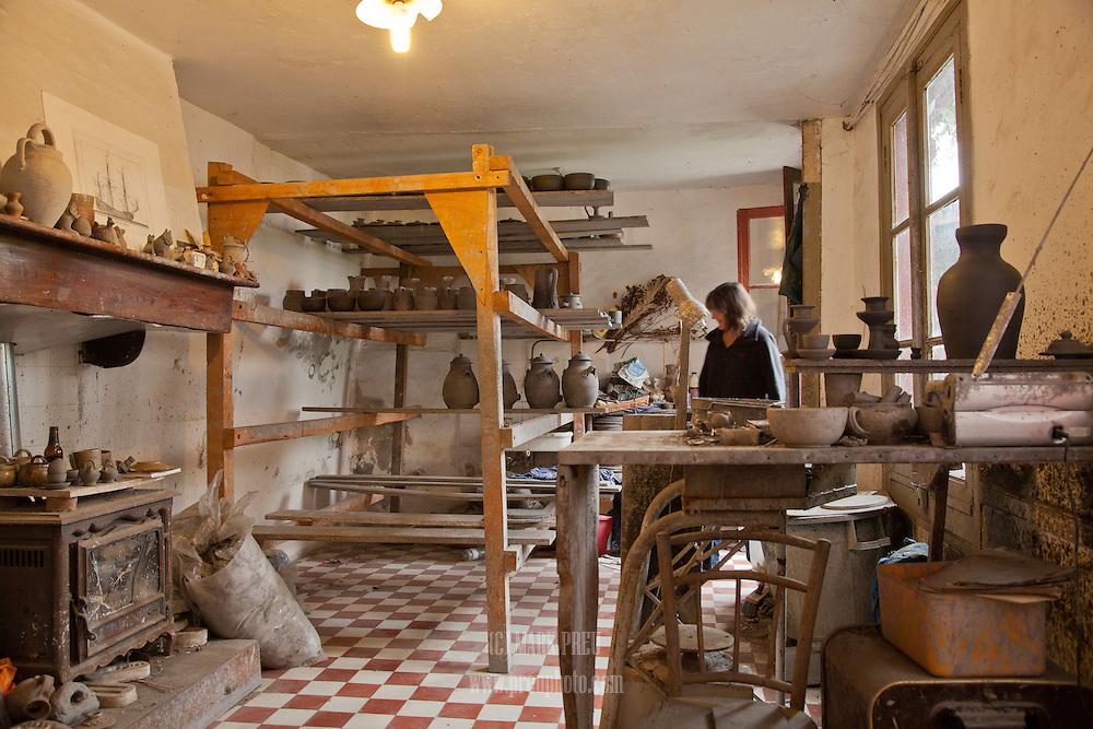 A potter's studio in Saint Jean Pied de Port.