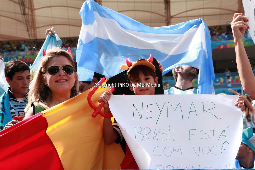 Fifa Soccer World Cup - Brazil 2014 - <br /> ARGENTINA (ARG) Vs. BELGIUM (BEL) - Quarter-finals - Estadio Nacional Brasilia -- Brazil (BRA) - 05 July 2014 <br /> Here Argentine fans.<br /> &copy; PikoPress