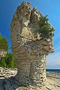 Limestone Flowerpots on Flowerpot Island in Georgian Bay<br />Fathom Five National Marine Park<br />Ontario<br />Canada