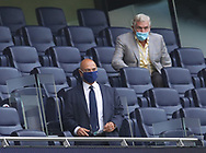 Spurs chairman Daniel Levy in a mask during the Premier League match at the Tottenham Hotspur Stadium, London. Picture date: 23rd June 2020. Picture credit should read: David Klein/Sportimage