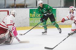 Chvatal Aljaz of HK Olimpija during Ice Hockey match between HK SZ Olimpija and EC KAC II during 1st round of Alps Hockey League 2019/20, on September 14, 2019, in Hala Tivoli, Ljubljana, Slovenia. Photo by Grega Valancic