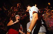 Clubbers dancing at Come Dancing Battersea London June 2002