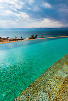 Infinity pool, Kempinski Hotel Ishtar (the lowest point on Earth), Dead Sea, Jordan.
