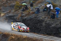 17.01.2014, Sisteron, FRA, FIA, WRC, Monte Carlo, 2. Tag, im Bild MELICHAREK Jaroslav / MELICHAREK Erik ( Slovakia World Rallye Team (SVK) / FORD FIESTA RS ) mit Fans auf einem Huegel during day two of FIA Rallye Monte Carlo held near Monte Carlo, France on 2014/01/17. EXPA Pictures © 2014, PhotoCredit: EXPA/ Eibner-Pressefoto/ Neis<br /> <br /> *****ATTENTION - OUT of GER*****