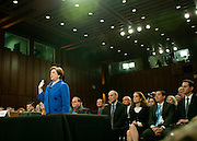June 28, 2010 - Washington, District of Columbia, U.S., -  Solicitor General Elena Kagan is sworn in as she appears before the Senate Judiciary Committee for hearings on her nomination to be an associate justice of the Supreme Court.(Credit Image: © Pete Marovich/ZUMA Press)
