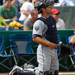 March 1, 2011; Clearwater, FL, USA; Detroit Tigers catcher Alex Avila (13) during a spring training exhibition game against the Philadelphia Phillies at Bright House Networks Field  Mandatory Credit: Derick E. Hingle