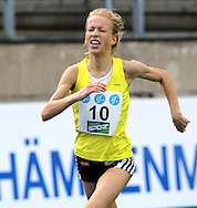 26.8.20112, Hiihtostadion, Lahti..Yleisurheilun Kalevan Kisat 2012. .Naisten 5000 m..Johanna Peiponen - Rovaniemen Lappi