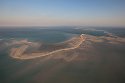 Aerial view of the sandbank near Adele Island on the Kimberley coast of Western Australia.