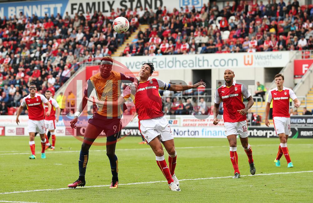 Tammy Abraham of Bristol City takes on Stephen Kelly of Rotherham United  - Mandatory by-line: Matt McNulty/JMP - 10/09/2016 - FOOTBALL - Aesseal New York Stadium - Rotherham, England - Rotherham United v Bristol City - Sky Bet Championship