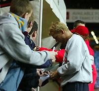 Fotball<br /> Carling Cup England<br /> 03.12.2003<br /> Aston Villa v Crystal Palace<br /> Marcus Allbäck / Allback - Villa<br /> Foto: Anders Hoven, Digitalsport