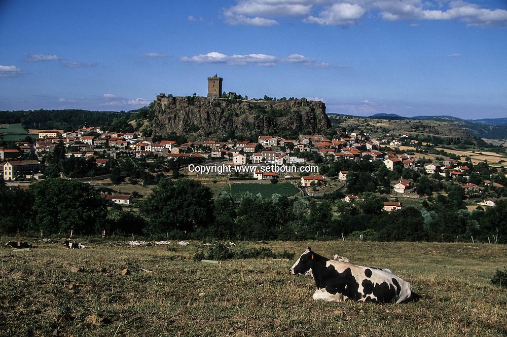 massif central. landscape . Polignac castle near Puy en Velay city  France /  Massif central  Château de polignac a cote du puy en Velay  France  / L0008117  /  R20707  /  P114754