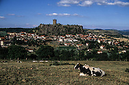 massif central. landscape . Polignac castle near Puy en Velay city  France /  Massif central  Château de polignac a cote du puy en Velay  France  / L0008117  /  R20707  /  P114754