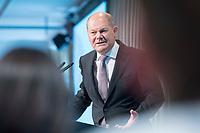 09 MAY 2019, BERLIN/GERMANY:<br /> Olaf Scholz, SPD, Bundesfinanzminister, haelt eine Rede, Wirtschaftskonferenz, Wirtschaftsforum der SPD, Kalkscheune<br /> IMAGE: 20190509-01-206