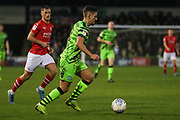 Forest Green Rovers Liam Shephard(2) runs forward during the EFL Sky Bet League 2 match between Forest Green Rovers and Swindon Town at the New Lawn, Forest Green, United Kingdom on 21 December 2019.