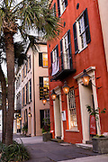 Sunset along Broad Street in historic Charleston, SC.