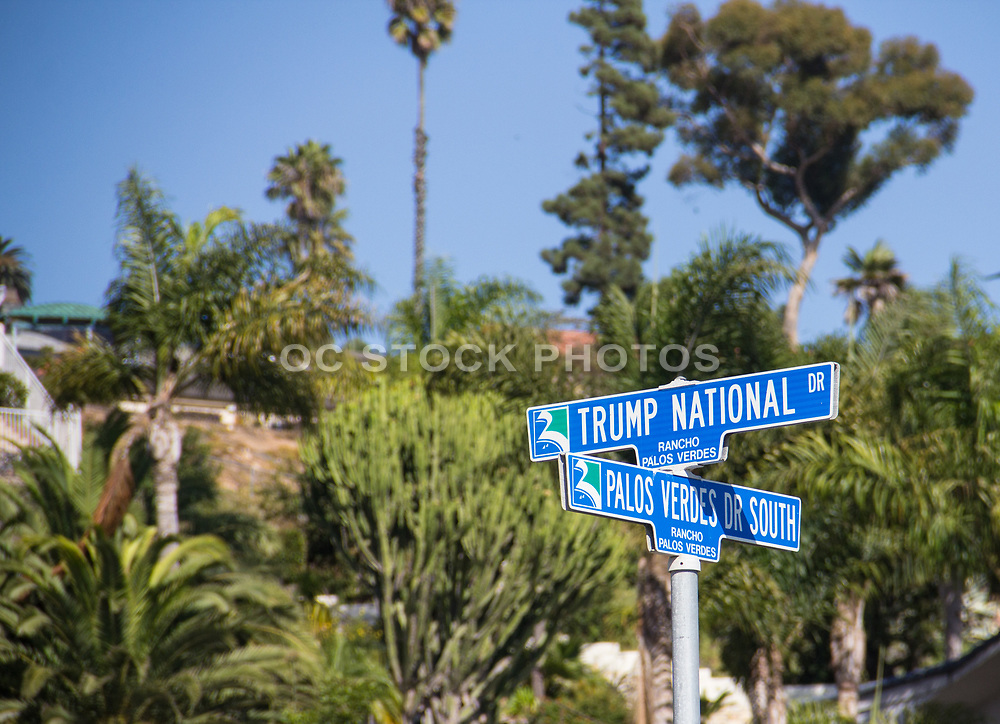 Trump National Dr. and Palos Verdes Dr South Street Sign