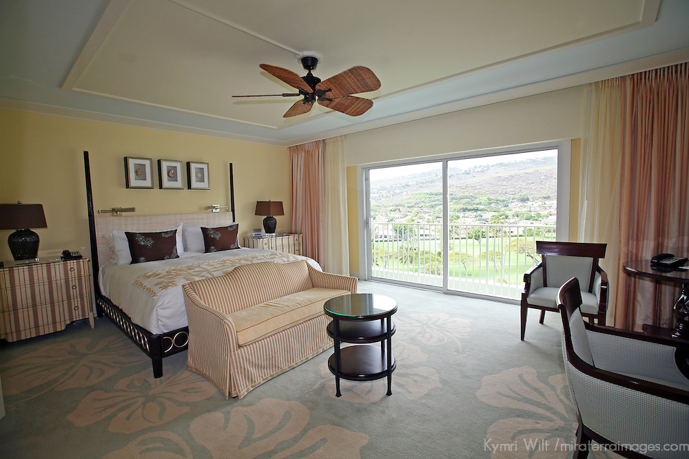 USA, Hawaii, Honolulu. Room at the Kahala Resort on Oahu.