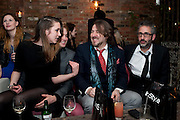 EMILY SYKES,; JONATHAN ROSS; DAVID BADDIEL, InStyle's Best Of British Talent Party in association with Lancome. Shoreditch HouseLondon. 25 January 2011, -DO NOT ARCHIVE-© Copyright Photograph by Dafydd Jones. 248 Clapham Rd. London SW9 0PZ. Tel 0207 820 0771. www.dafjones.com.