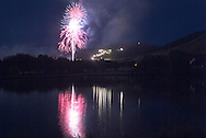 Independence Day fireworks above Park City Mountain Resort, Park City, Utah, USA