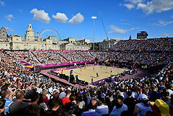 Beach Volleyball at Horse Guards Parade.