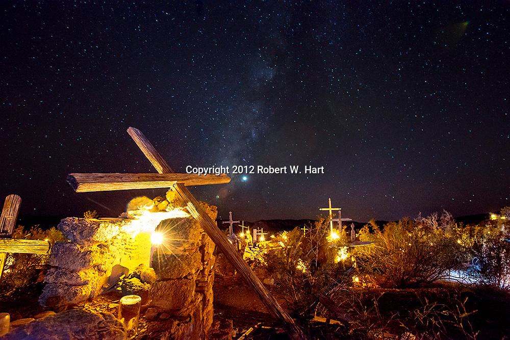 Dia de Los Muertos in Terlingua Ghost Town cemetery.
