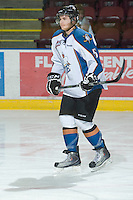 KELOWNA, CANADA, NOVEMBER 25: Jagger Dirk #5 of the Kootenay Ice warms up as the Kootenay Ice visit the Kelowna Rockets  on November 25, 2011 at Prospera Place in Kelowna, British Columbia, Canada (Photo by Marissa Baecker/Shoot the Breeze) *** Local Caption *** Jagger Dirk;