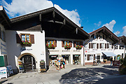 MITTENWALD, GERMANY - SEPTEMBER 01, 2010: View to the street of Mittenwald, Germany.