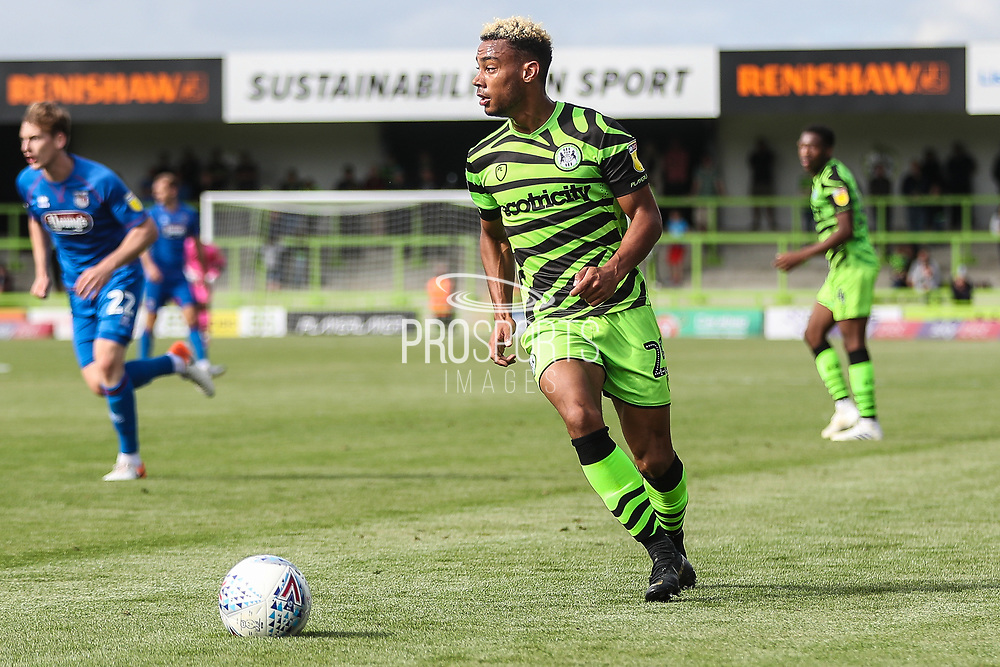 Forest Green Rovers Junior Mondal(25) during the EFL Sky Bet League 2 match between Forest Green Rovers and Grimsby Town FC at the New Lawn, Forest Green, United Kingdom on 17 August 2019.