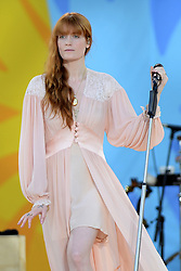 June 29, 2018 - New York, New York, U.S. - Florence And The Machine performing on the Good Morning America Concert Series in Central Park in New York City. (Credit Image: © Kristin Callahan/Ace Pictures via ZUMA Press)