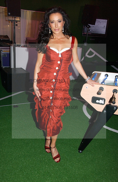NANCY DELL'OLIO at a party to launch Umbro Football Fever at Selfridges, Oxford Street, London on 8th June 2006.<br />
