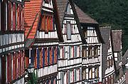 Deutschland, Germany,Baden-Wuerttemberg.Schwarzwald.Schiltach, Fachwerkhäuser.Schiltach, timber framed houses...