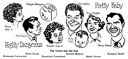 Highly Dangerous ; Dane Clark and Margaret Lockwood..Pretty Baby ; Dennis Morgan , Betsy Drake and Zachary Scott..