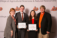 Rodd and Dona Moesel DC Agricultural Leadership Scholarship recipient, Grayson Kuehny and Dalacy Dockrey.
