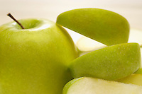 Granny smith apple with peel