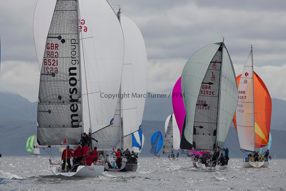 Silvers Marine Scottish Series 2017<br /> Tarbert Loch Fyne - Sailing Day 3<br /> <br /> Class 3 with GBR6521, Trastada, Roddy Angus/D Challis, FYC, Half Tonner