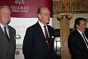 The Duke of Edinburgh, Guards Polo Club  reception. CafŽ de Paris, Coventry Street. London. 15 May 2007. -DO NOT ARCHIVE-© Copyright Photograph by Dafydd Jones. 248 Clapham Rd. London SW9 0PZ. Tel 0207 820 0771. www.dafjones.com.