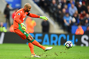 Stoke City goalkeeper Lee Grant (33) during the Premier League match between Leicester City and Stoke City at the King Power Stadium, Leicester, England on 1 April 2017. Photo by Jon Hobley.