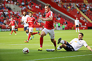 Charlton Athletic defender Morgan Fox (21) dribbling into the box during the EFL Sky Bet Championship match between Charlton Athletic and Bolton Wanderers at The Valley, London, England on 27 August 2016. Photo by Matthew Redman.