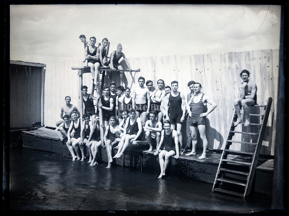 swimming club group France circa 1920s