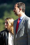 102613 Prince Felipe and Princess Letizia visit Teverga, Asturias