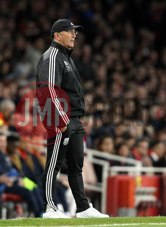 West Bromwich Albion Manager Tony Pulis - Mandatory by-line: Robbie Stephenson/JMP - 21/04/2016 - FOOTBALL - Emirates Stadium - London, England - Arsenal v West Bromwich Albion - Barclays Premier League