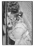 Homeless man with a teddy bear. E 64 St. Manhattan. New York. 1992. © Copyright Photograph by Dafydd Jones 66 Stockwell Park Rd. London SW9 0DA Tel 020 7733 0108 www.dafjones.com