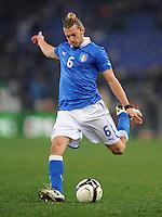 Fussball International, Nationalmannschaft   EURO 2012 Play Off, Qualifikation, Italien - Uruguay      15.11.2011 Federico Balzaretti  (Italien)