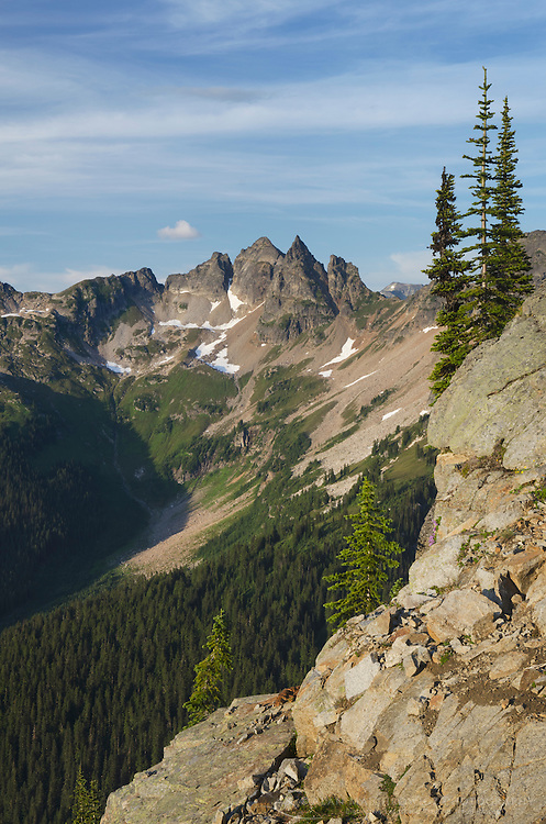 Sitting Bull Mountain seen from Miner's Ridge, Galcier Peak wilderness, North Cascades Washington